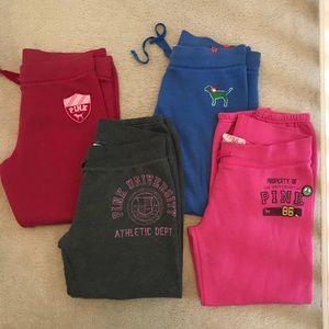 ✨VS PINK Bundle-✨4 Cropped Sweatpants + Bonus